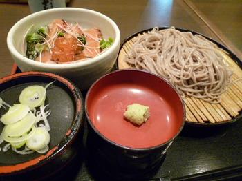そじ坊(千葉)-炙り鮭の親子丼定食1.JPG