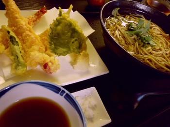 手打ち蕎麦和ぉー(平塚)-海老天そば1.JPG